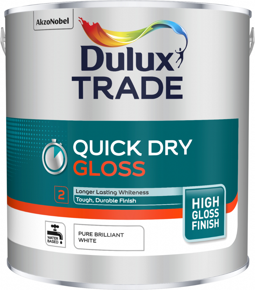 Dulux Trade Quick Dry Gloss Pure Brilliant White
